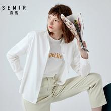 SEMIR 2019 autumn new long sleeve blouse female cotton oversize women shirt chic  design sense girl fashion clothing