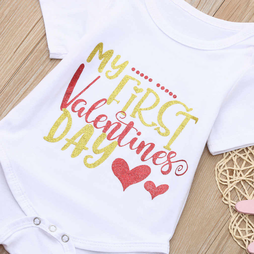 a5002174e ... Newborn Infant Baby Girl Letter Romper Tops+Tutu Skirts Valentine  Outfits Set Toddler Baby Girl ...