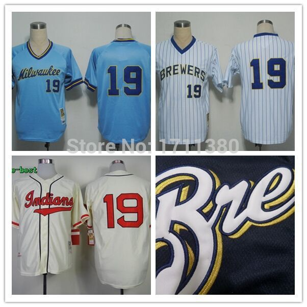 outlet store d32c4 cb97d Milwaukee Brewers throwback jersey mens 19 robin yount ...