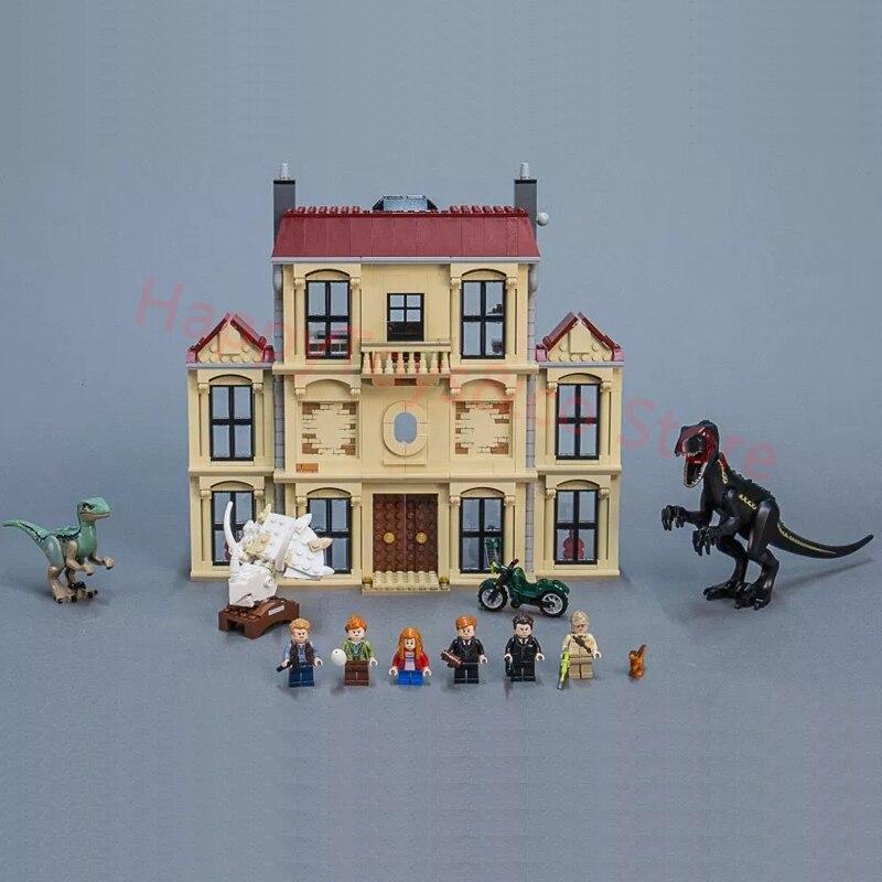 10928 Legoing Jurassic Dinosauro Del Mondo Indoraptor Rampage A Lockwood Immobiliare Blocchi di Costruzione Giocattoli Per I Bambini Legoings Jurassic Park
