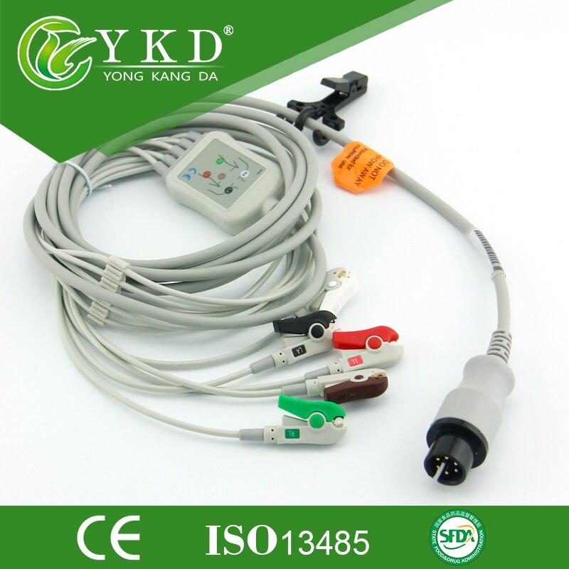 5 Teile/los einteilige ekg-kabel und leitungsdrähte mit 6 Pin 5 ...