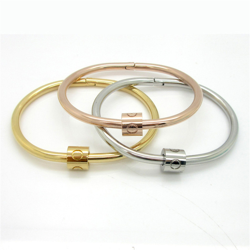 Hot! New Launch 2016 New Bangles Charming Nail Bangle Stainless Steel Top Quality Bangle For Men pulseras hombre