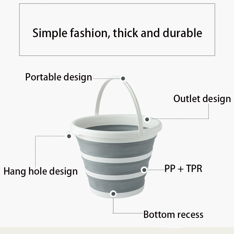 10L Bucket for Fishing Promotion Folding Bucket Car Wash Outdoor Thick Silicone Fishing Supplies Free Shipping Camping Portable in Buckets from Home Garden