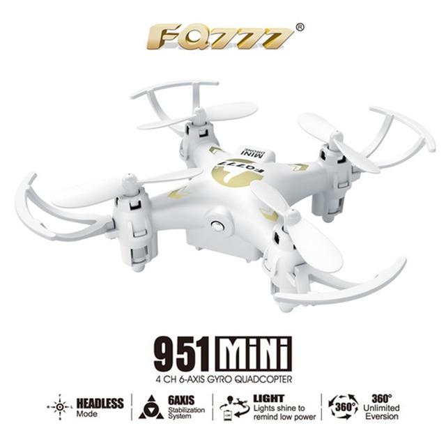 FQ777 951 FQ777-951 MINI Modo Sin Cabeza 2.4G 4CH 6 Axis RC Quadcopter RTF Regalo de Los Niños