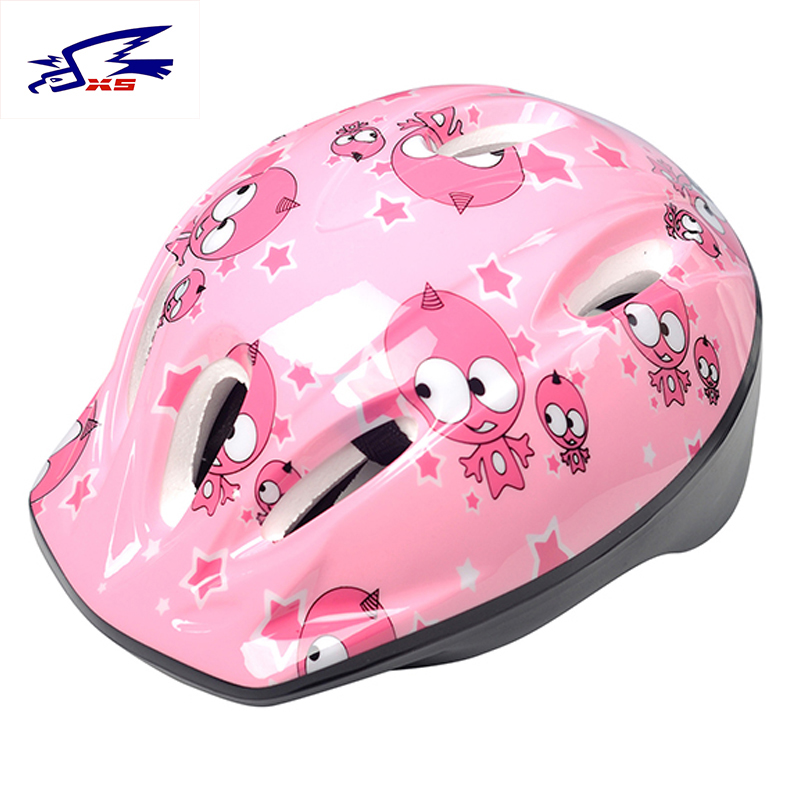 XS Children Cycling Helmet Riding Safety Child Head Helmets PVC Adjustable Road Mountain Bicycle Ice Skating Carton Kids Helmets