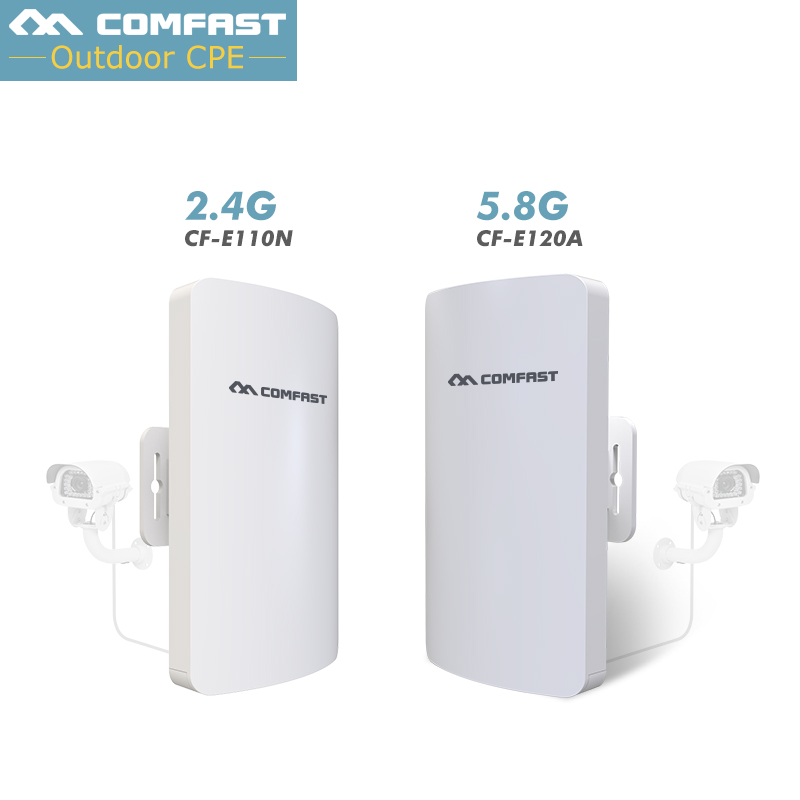 2Pc~ 3KM Outdoor CPE point to point wireless bridge 5.8G/2.4G Wireless WIFI Access Point AP Router WIFI Repeater 300Mbps Router 2pcs high power wireless bridge cpe 2 3km comfast 300mbps 2 4ghz outdoor wifi access point ap router wifi repeater for ip camera