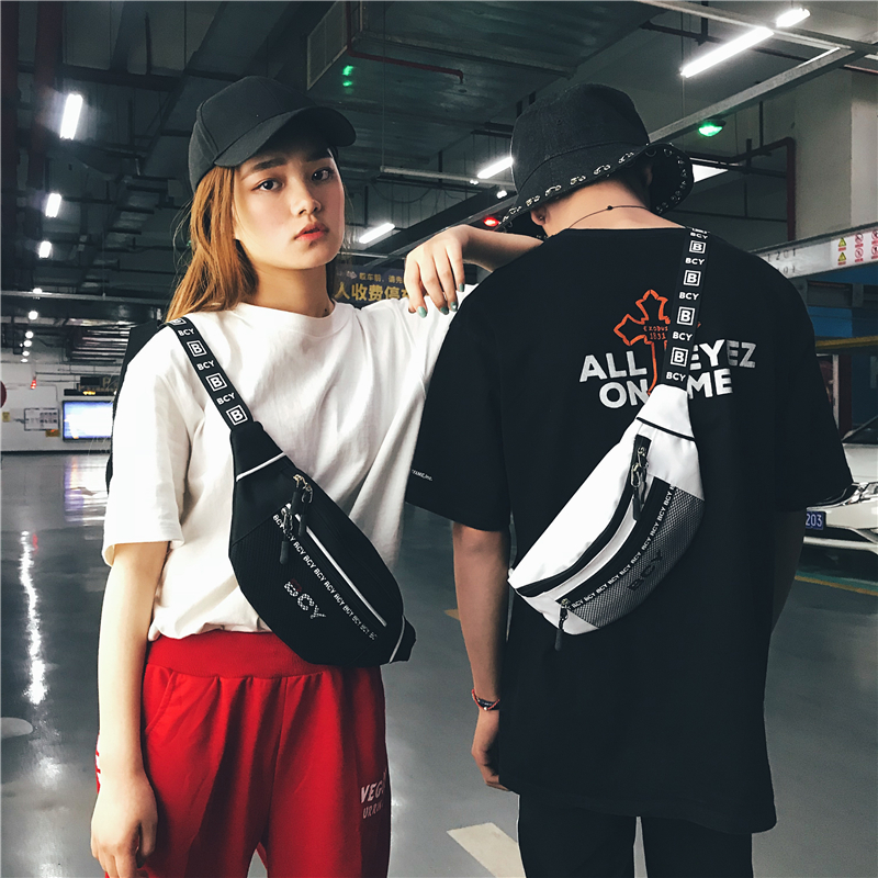 HTNBO Unisex Waist Packs Waist Bag Fanny Pack Purse Chest Fanny Pack Travel Cashier Belt Hip-hop Rock Boys Girl Bag 2019