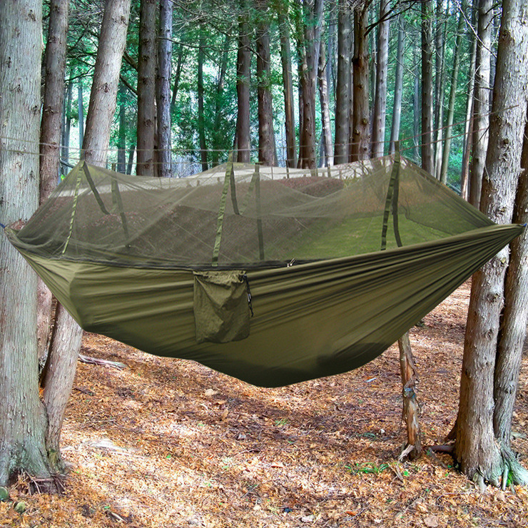 2017 hot sale portable style camping hunting mosquito   parachute hammock 2 person flyknit hamak hanging bed leisure hamac in hammocks from furniture on     2017 hot sale portable style camping hunting mosquito        rh   aliexpress