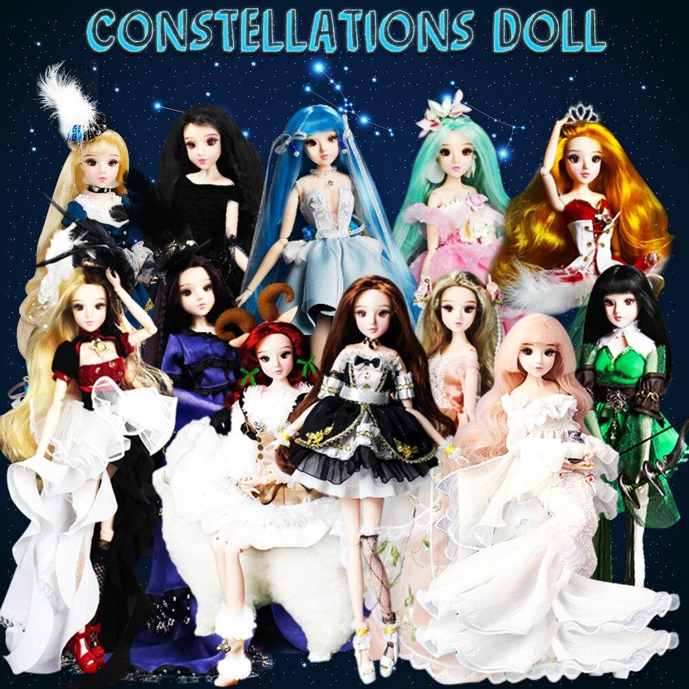 MM Girl Blyth doll 12 Constellation Series 35cm Joint body doll Monste high toys for children