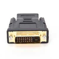DVI-D 24 + 1 pin macho a HDMI hembra M-F Adaptador convertidor para HDTV LCD monitor