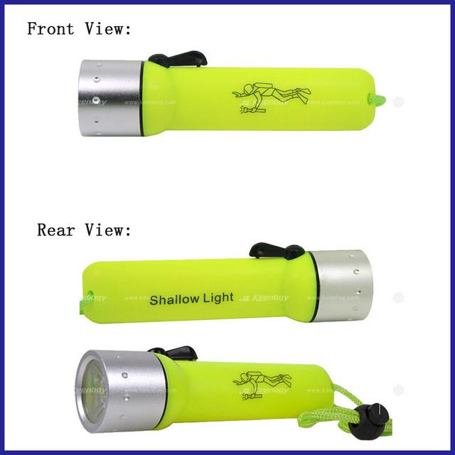 Linterna de buceo profesional de gran venta, lámpara de pesca portátil, linterna de buceador impermeable, adecuada para el mar profundo