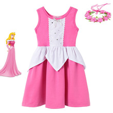 Sleeping Beauty Dress Children Aurora Princess Pink Frock Kids Dresses For Girls Summer Casual Clothes Toddler Girl Outfits