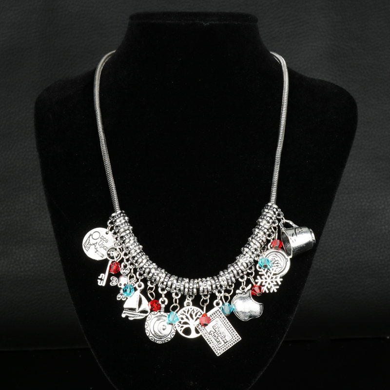 Once Upon a Time Jewelry Maxi Necklace for Women Accessories Multi-pendants Chain Necklace Female Vinage Necklace Collier