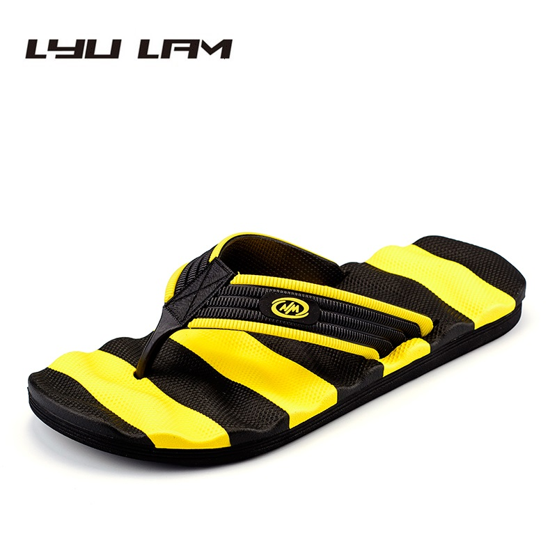 Big Size EU39-48 Summer PVC Beach Slippers Men Shoes Flip Flops Colorful EVA Outside Slipper Male Soft Light Massage Sandals Men