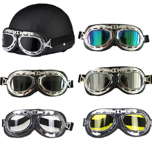 Professional Vintage helmet glasses Retro motorcycle rider goggle 5 color available glasses wear Jet helmet goggle