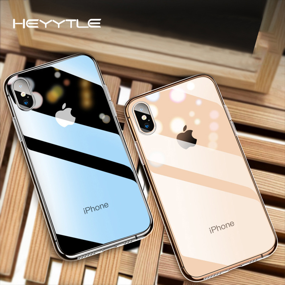 Heyytle Ultra Slim Transparent Phone Case For Iphone 8 7 6 6s Plus X Xs Max Xr Clear Cases For Iphone 8plus Soft Tpu Cover Coque Providing Amenities For The People; Making Life Easier For The Population Fitted Cases