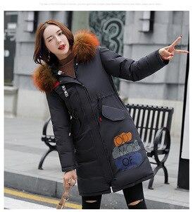 Image 1 - Kış sıcak uzun kar giyim kadın pamuk ceket uzun kollu kalın ceket katı rahat fermuar kadın üstleri sıcak kış giysileri