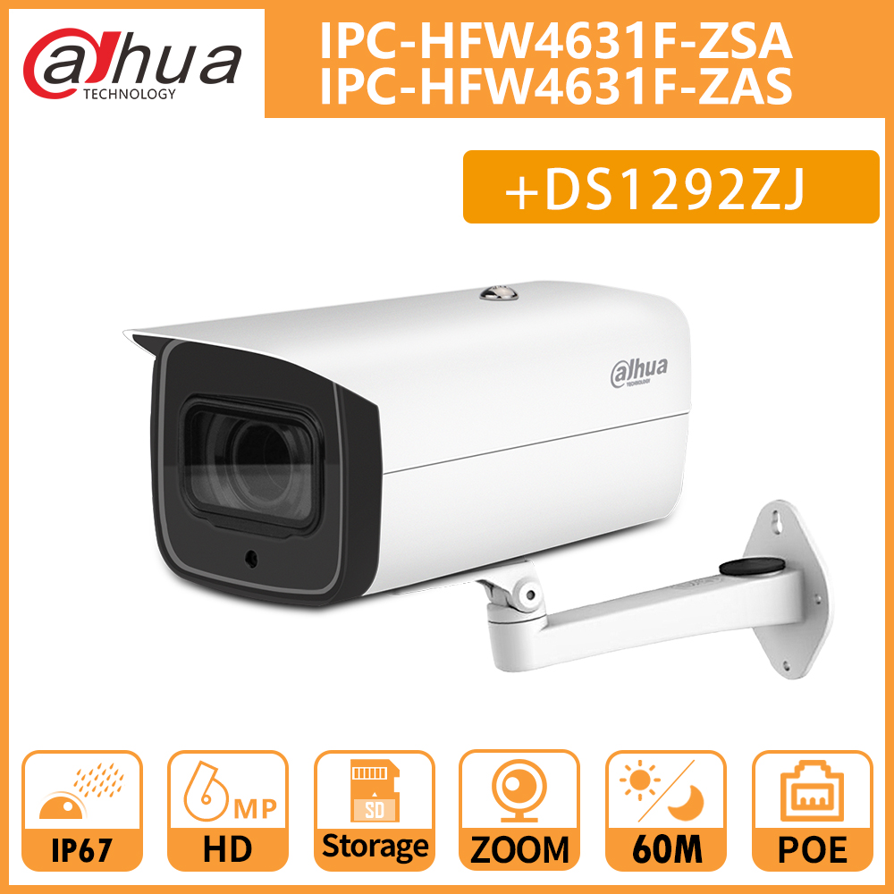 DH IPC-HFW4631F-ZAS IPC-HFW4631F-ZSA 6MP CCTV Night Camera 5X Motorized Zoom IR60M Bullet Camera Support SD Card Without Logo