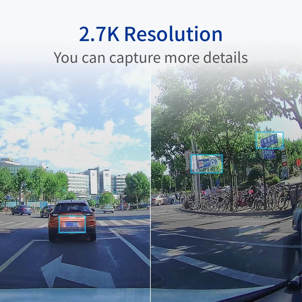 YI Ultra Dash Camera With 16G Card 2.7K Resolution Car DVR A17 A7 Dual Core Chip Voice Control light sensor 2.7-inch Widescreen