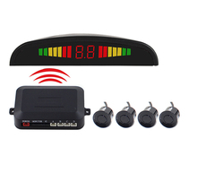 4 Sensors Auto Car Reverse Assistance Backup Radar Monitor System detector de radar LED Display Wireless Car Parking Sensor Kit
