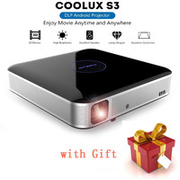 COOLUX S3 Pro DLP Projector 3D Bluetooth 1100 ANSI 1280 x 800P Support 4K 2.4 / 5GHz WiFi Bluetooth 4.0 Home Theater Player