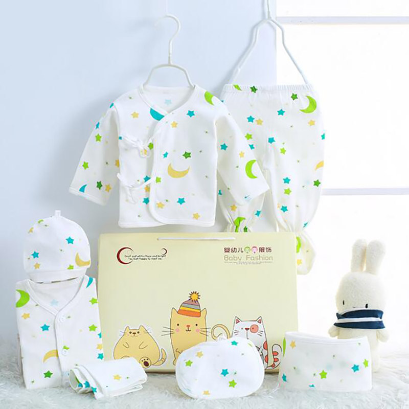 0-3 Months Infant Clothing Set Cotton Newborn Boys Clothes  Baby Underwear For Girls Print New Born Baby Girl Suits