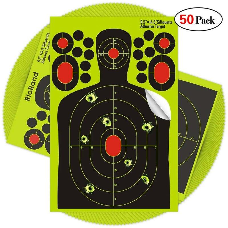 50pack pegatinas de rodaje salpicadura objetivos 9.5x14.5 pulgadas - Para fiestas y celebraciones