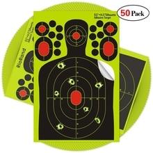 50pack Fényképezési matricák Splatter Célkitűzések 9,5x14,5 hüvelykes öntapadó papír Silhouette reaktív cél matricák a fegyvertól