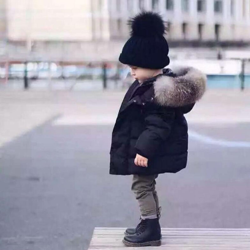 Baby Boys Jackets 2018 New Winter Children's Jacket Warm Fur collar Hoodies Girls Outerwear Coat Kids Clothes 2 3 4 5 6 7 Years