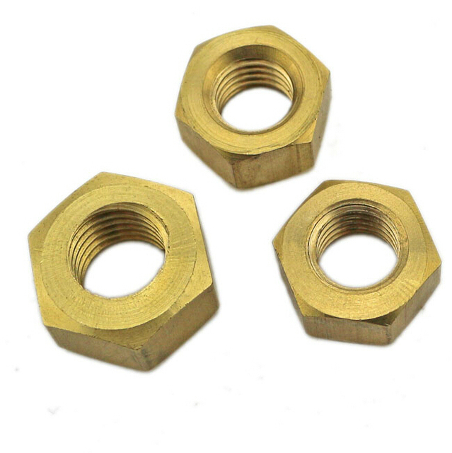 Copper Nuts And Bolts >> M10 10mm Copper Bolts And Nuts Solid Copper Hex Full Nuts 5 Pcs