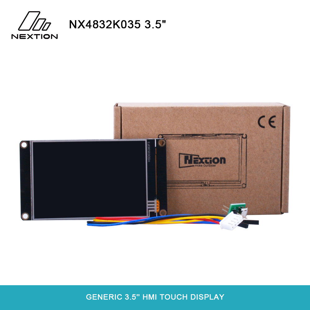 Nextion Enhanced NX4832K035 - Generic 3 5'' 480*320 Built-in RTC / Larger  Flash Capacity / Faster MCU Clock HMI Touch Display