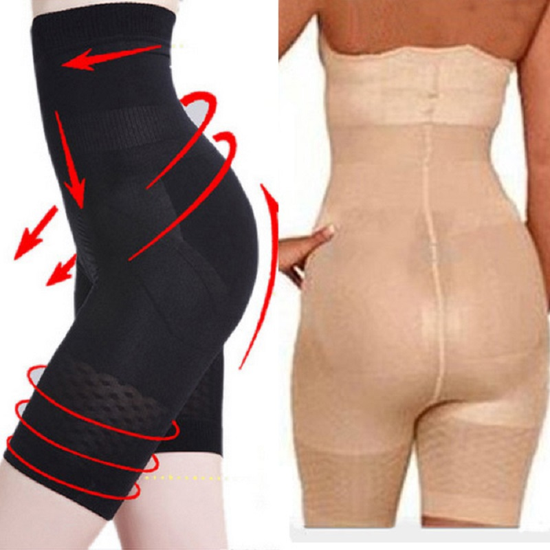 Womens Body Slimming Shaper Suits Shapewear Shaping Cincher Tummy Thigh Control Knicker Panties High Waist Black Nude(China)
