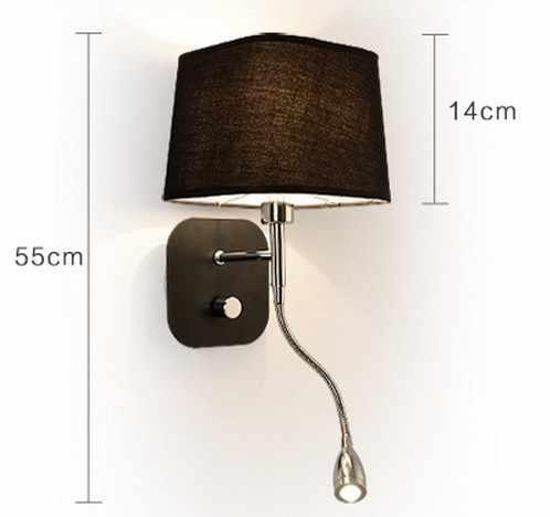 Креативный тканевый настенный светильник с ленточным переключателем, современный светодиодный настенный светильник для чтения, Светильники для спальни, настенный светильник, Домашний Светильник ing Lampara