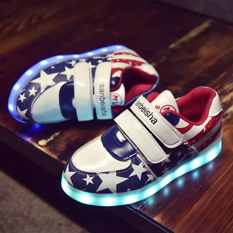 Led luminous Shoes For Boys girls Fashion Light Up Casual kids 7 Colors USB charge new simulation sole Glowing children sneakers plus size 35 40 led shoes women glowing 7 colors led shoes for adults fashion luminous led light shoes woman sapato feminino