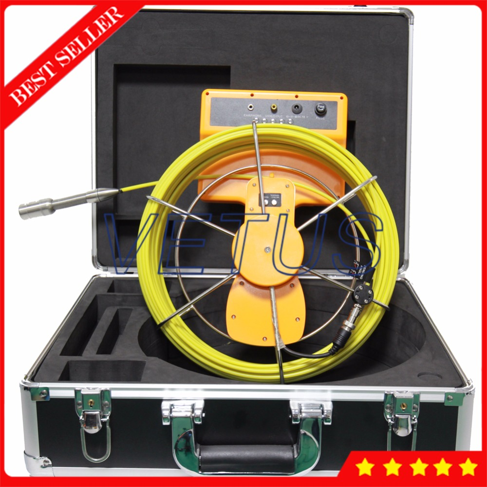 710D SCJ Waterproof Sewer Survey Inspection Camera 23mm with Industrial Pipe Endoscope 7inch monitor DVR Recorder 30m Cable