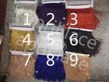 tt022# 5 yards /bag 9 color 15cm width tube beads ribbon fringe tassel for fashion designer/sawing /dress decoration
