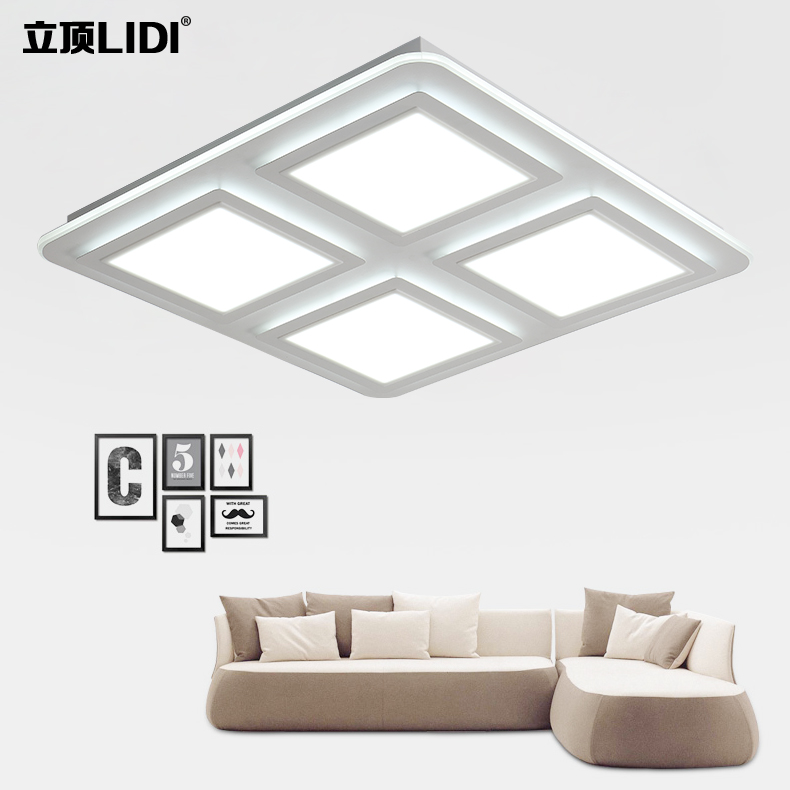 modern minimalist living room lights dimming ceiling lamps LED bedroom lamp iron square atmospheric remote control lamp ceiling lighting minimalist modern balcony study bedroom lighting led intelligent atmospheric living room dining room
