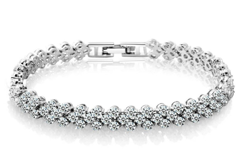 NEW Luxury Vintage Bracelet Crystal From Swarovskis For Women Charm Silver Bracelets Bridal Wedding Fine Jewelry Gift