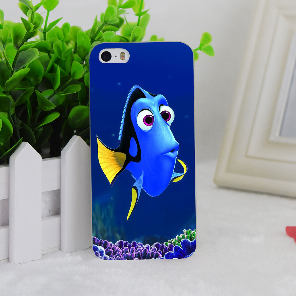 A1282 Dory Just Keep Swimming Design Transparent Hard Thin Case Cover For Apple iPhone 4 4S 5 5S SE 5C 6 6S 6Plus 6s Plus