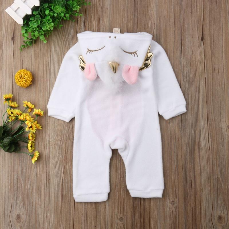 HTB1J3ZfaiLrK1Rjy1zdq6ynnpXaU 2019 New Autumn Winter Newborn Baby Girl Clothes Cute 3D Unicorn Flannel Long Sleeve Zipper Warm Romper Jumpsuit Outfit Clothes