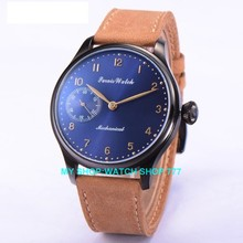 44mm PARNIS ST3600 6497 Mechanical Hand Wind men s watch Mechanical watches PVD watchcase 2016 new