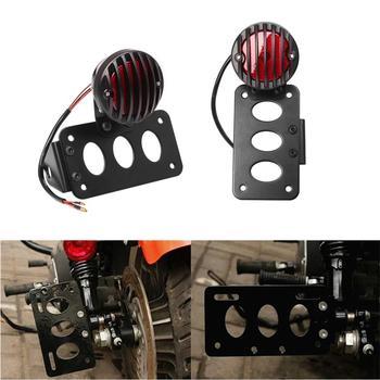 Neue Lizenz Platte Halterung Bremse Schwanz Licht Lampe Für Harley Choppers Sportster Bobber