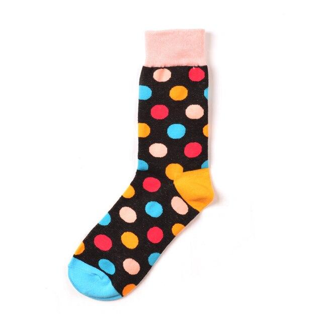 Jhouson 1 pair Colorful Men's Cotton Crew Funny Socks Watermelon Corn Spaceman Pattern Novelty Skateboard Socks For Gifts 3