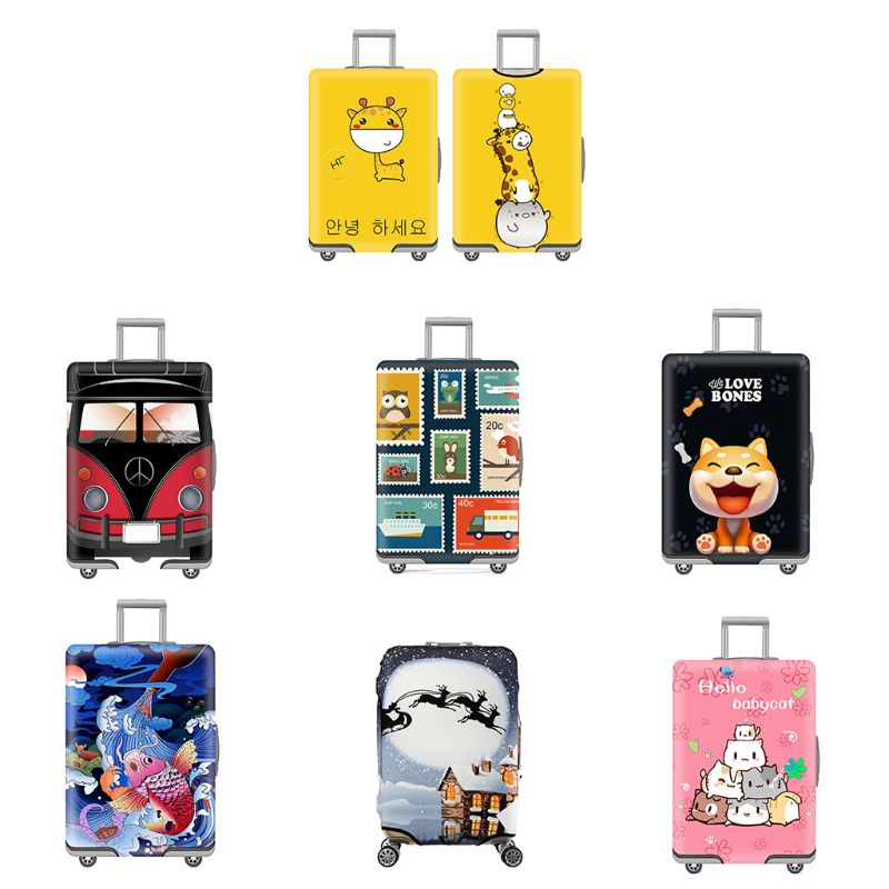 Fashion New Men Women Travel Luggage Cover Dustproof Suitcase Protective Cover Fit For 19-32 Inch Luggage 7 Styles S/M/L/XL