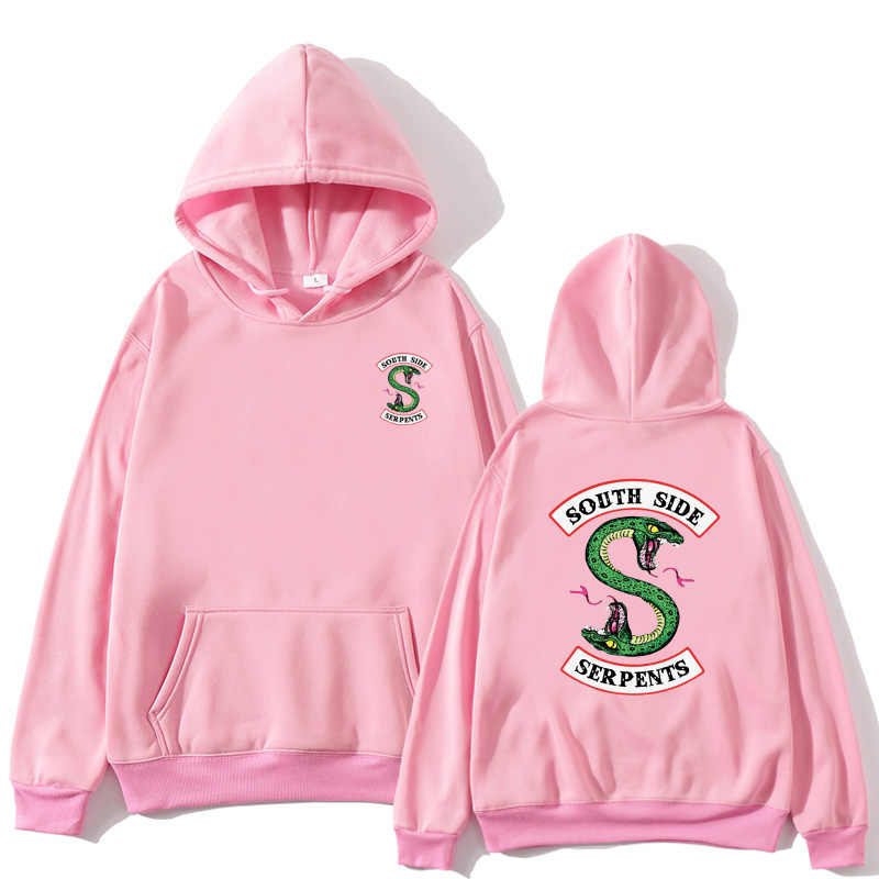 South Side Serpents Hoodie fashion Print Riverdale Hoodies Women Streetwear oversize casaco feminino Pullover Sweatshirt