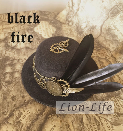 Vintage Hombres Mujeres Steam Punk Gothic Lolita Bowler Mini Sombrero Headwear Accessary