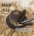 Vintage Women Men Gothic Lolita Steam Punk Bowler Mini Hat Headwear Accessary