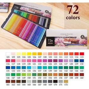 Image 5 - Deli Stationery Office Juego de lápices de colores al óleo, 48/72 colores, para dibujar bosquejo de pintura, caja de lata, material escolar para bellas artes profesional