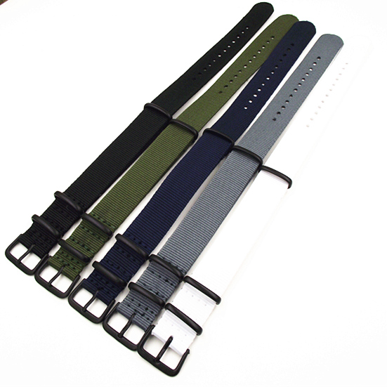 Black buckle - Wholesale 10PCS/lots High quality 20MM Nylon Watch band NATO straps waterproof watch strap 5 colors available wholesale 10pcs lot high quality 20mm nylon watch band nato waterproof watch strap colorful fashion wach band nato strap new