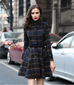 2017 Spring Autumn Women Jacket New Plaid Cashmere Wool Coat Long Section Overcoat Thick Warm Parkas Brand Overcoat